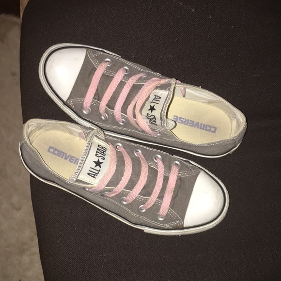 d87fe415d3a5 Converse Shoes - Gray Converse Chuck Taylor All Star lo sneaker
